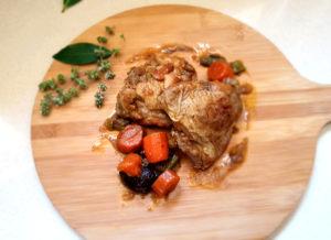 Pollo de La Abuela Marga estofado con zanahorias