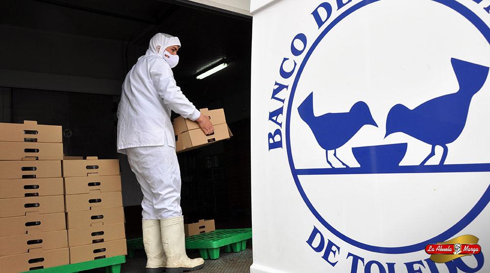 La Abuela Marga ha decidido colaborar con el Banco de Alimentos de Toledo para ayudar a los damnificados por la crisis.