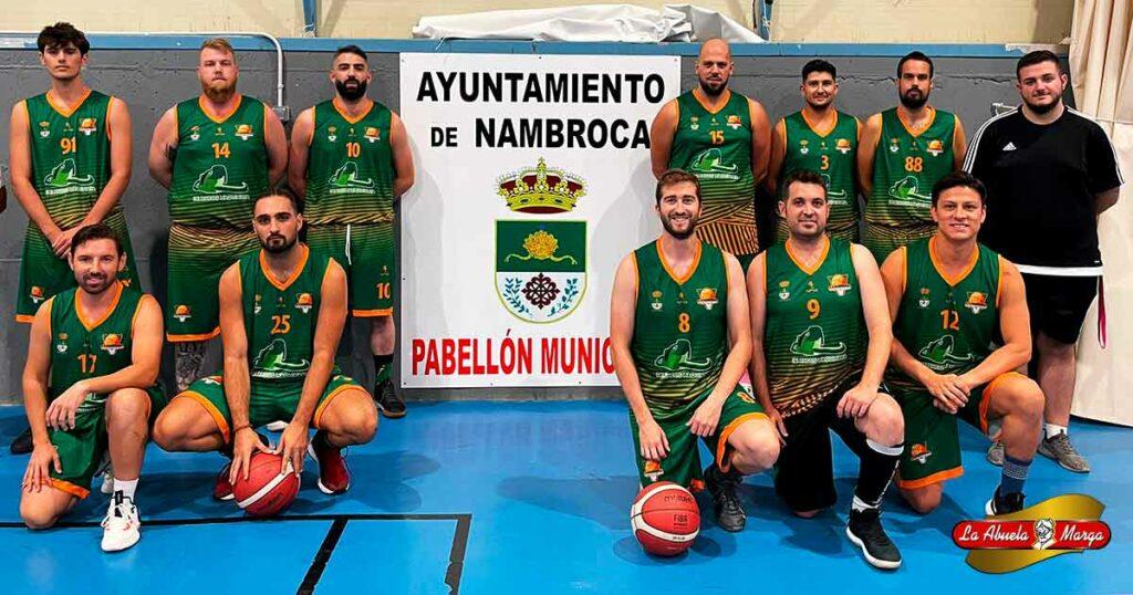 La abuela Marga patrocinadora del equipo de baloncesto de Nambroca